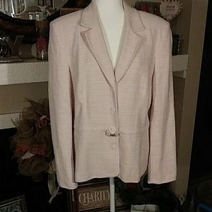 Sag Harbor suit blazer size 18 pink and white